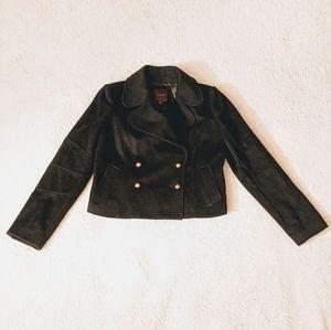 Black wool crop jacket